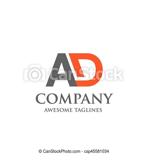 Creative letter ad logo abstract business logo design template creative letter ad logo abstract business logo design template modern letter ad logo template editable for your business flashek Images
