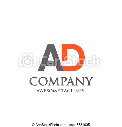 creative letter ad logo abstract business logo design template