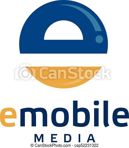 creative letter e circle logo creative letter e logo vector rh canstockphoto com