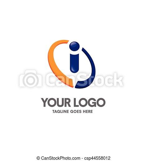 Creative letter i logo. abstract business logo design ...