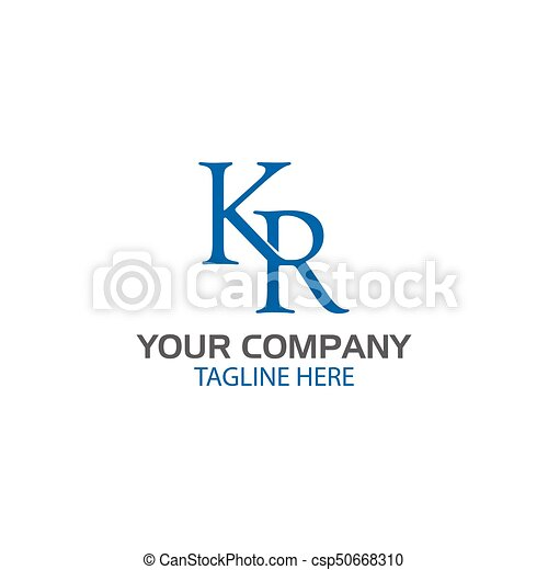 Creative Letter K And R Logo Design