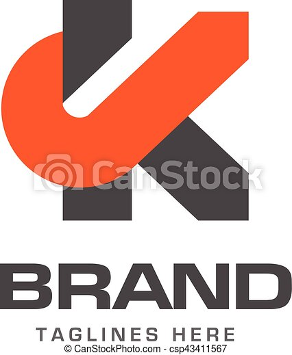 Creative Letter K Template Logo   Csp43411567