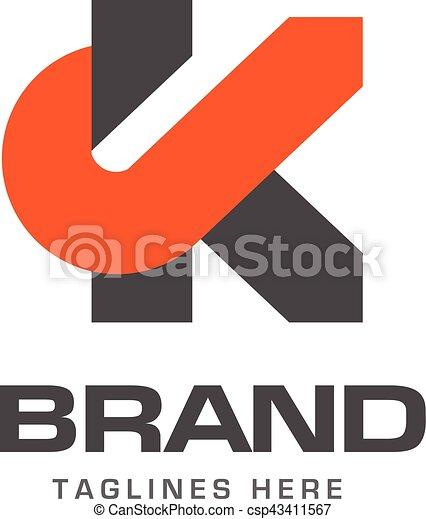 creative letter K template logo - csp43411567