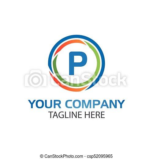 Creative Letter P In Circle Icon Vector Creative Letter P Clip