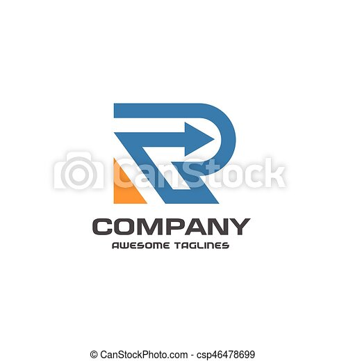 creative letter r logo abstract business logo design template