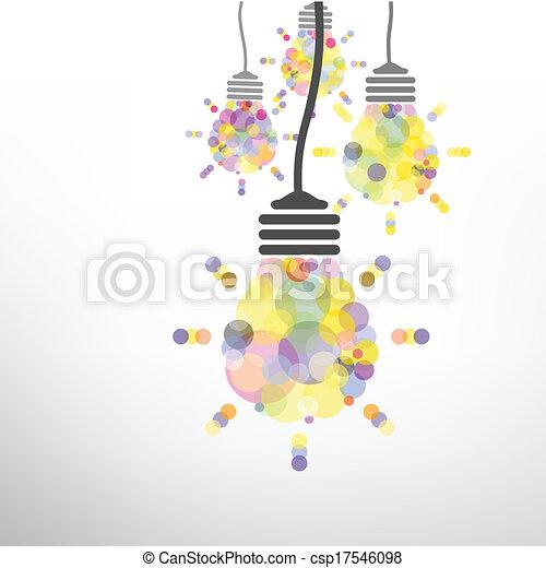 Creative light bulb Idea concept background - csp17546098