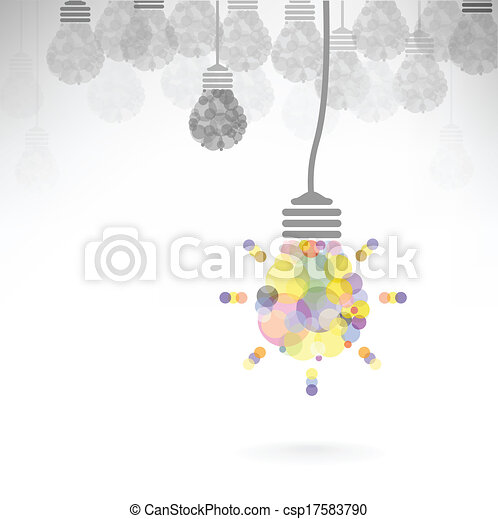 Creative light bulb Idea concept background - csp17583790