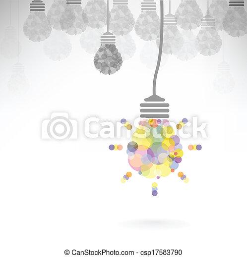 Creative light bulb Idea concept background - csp17583790