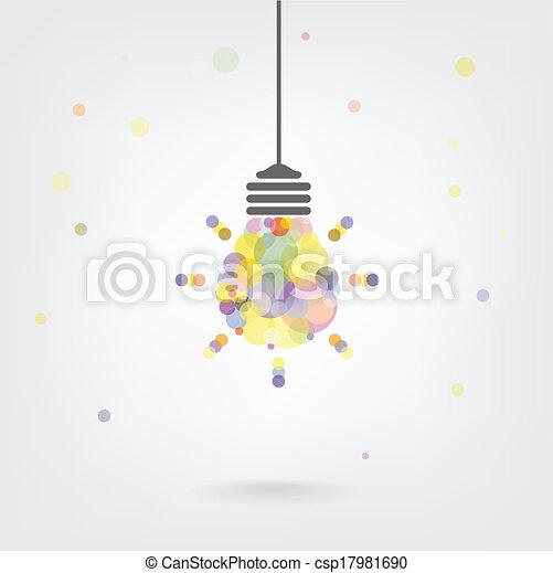 Creative light bulb Idea concept background - csp17981690