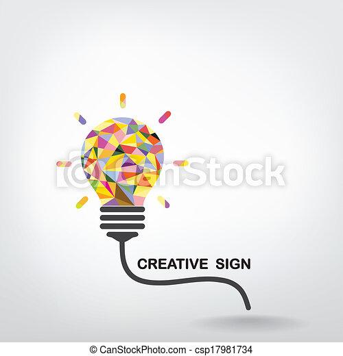 Creative light bulb Idea concept background - csp17981734