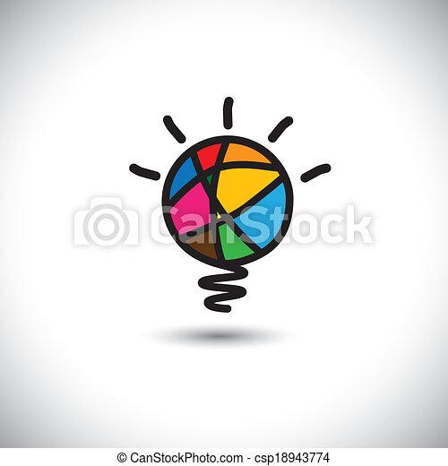 creative light bulb idea - concept vector icon - csp18943774