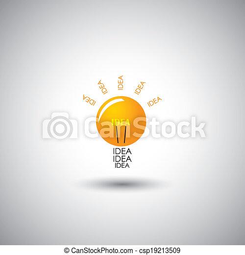 creative light bulb idea icon - concept vector graphic - csp19213509