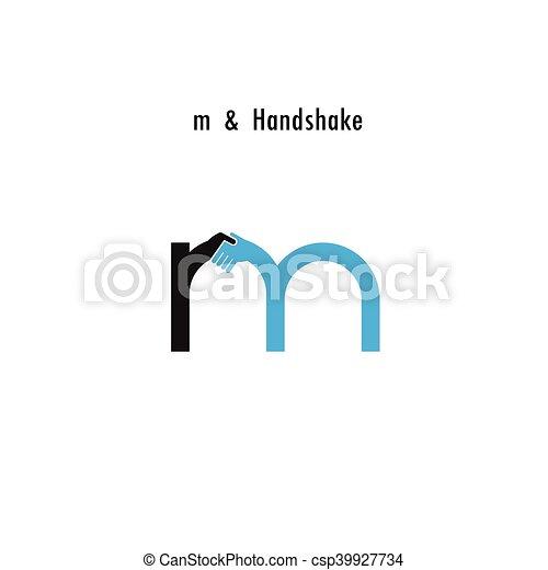 creative m letter icon abstract logo design vector template
