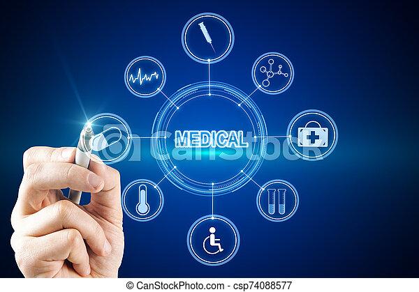 Creative medical interface - csp74088577