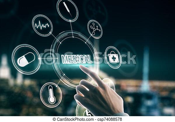 Creative medical interface - csp74088578