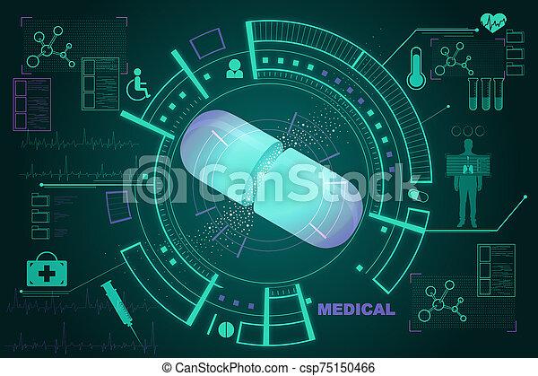 Creative medical interface - csp75150466