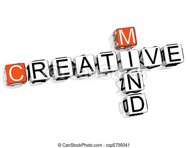 Creative Mind Crossword  - csp5709341