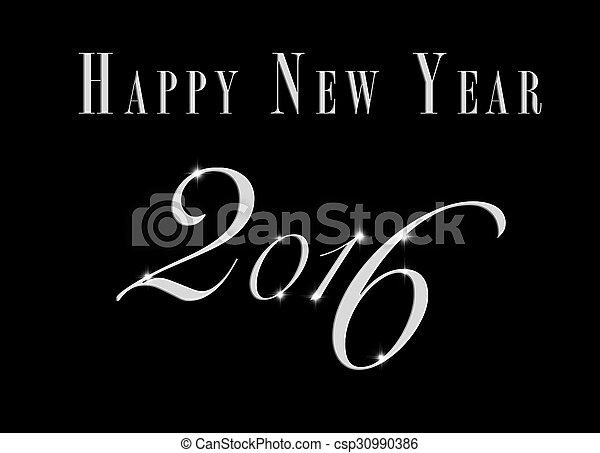 creative new year 2016 design. - csp30990386