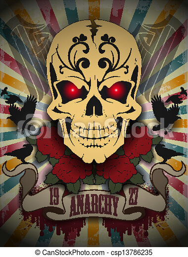 Creative picture of a skull - csp13786235