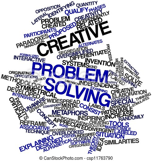 Abstract word cloud for creative problem solving with ...