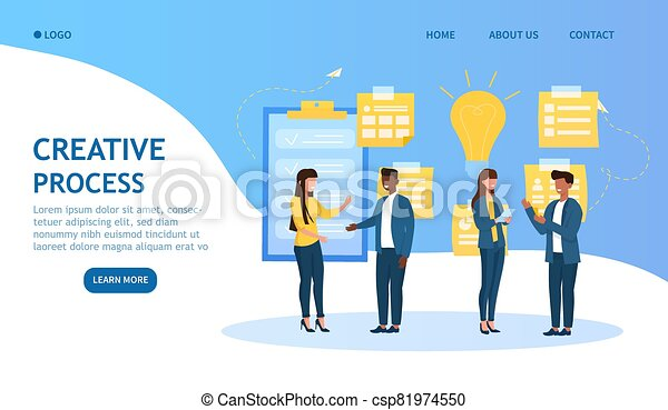 Creative Process in business concept - csp81974550