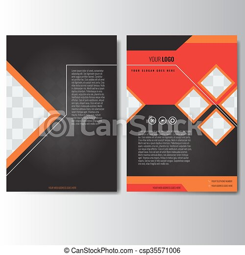 Creative Red Annual Report Leaflet Brochure Flyer Template Vector