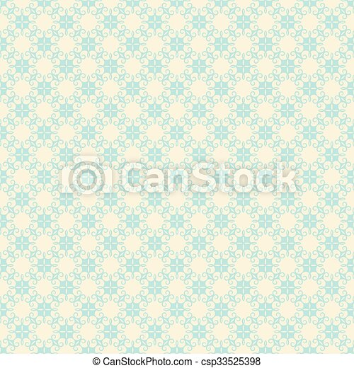 creative retro flora design pattern - csp33525398
