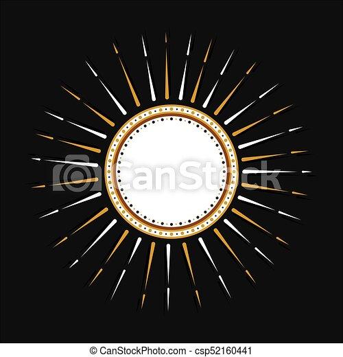 creative round sticker design - csp52160441