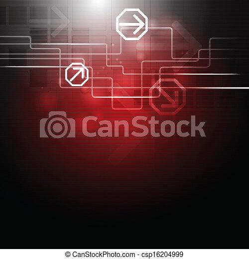 Creative vector hi-tech design with arrows - csp16204999