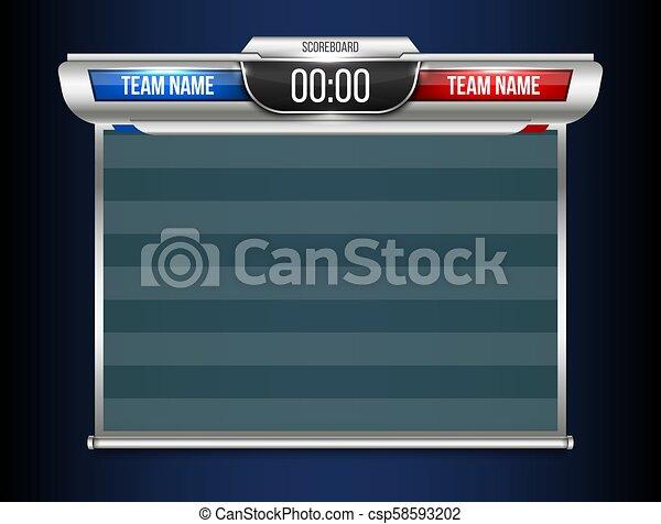 creative vector illustration digital scoreboard broadcast graphic