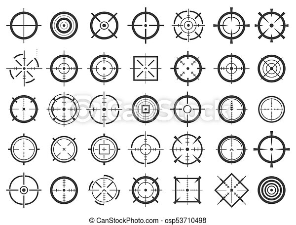 Creative Vector Illustration Of Crosshairs Icon Set Isolated On Transparent Background Art Design Target Aim And Aiming To Bullseye Signs Symbol Abstract