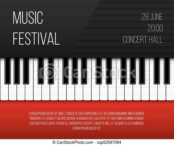 Creative Vector Illustration Of Piano Keys Art Design Jazz Live Concert Music Background Abstract Concept Graphic Element Poster Flyer