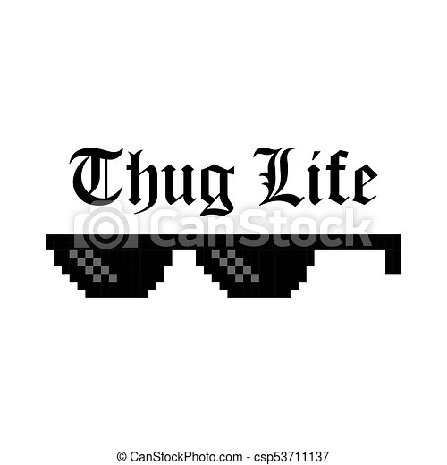 Creative vector illustration of pixel glasses of thug life creative vector illustration of pixel glasses of thug life meme isolated on transparent background ghetto lifestyle culture art design mock up template sciox Gallery