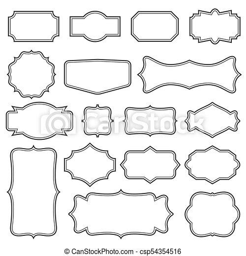 Creative vector illustration set of decorative vintage frames ...