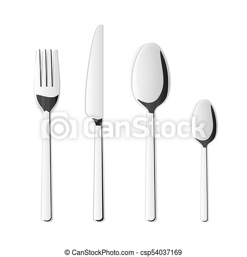 Creative vector illustration top view cutlery set of silver fork spoon knife isolated on transparent background. art design kitchen silverware table ...  sc 1 st  Can Stock Photo & Creative vector illustration top view cutlery set of silver fork spoon knife isolated on transparent background. Art design kitchen silverware table ...