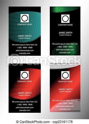 Creative vertical business card set creative vertical business card set csp23161178 reheart Choice Image