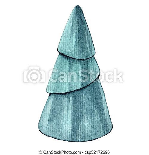 Creative Watercolor Abstract Christmas Tree Creative Watercolor