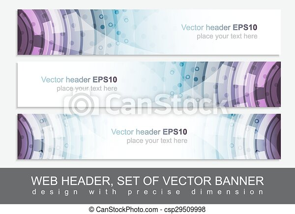 Creative web header or banner for your project - csp29509998