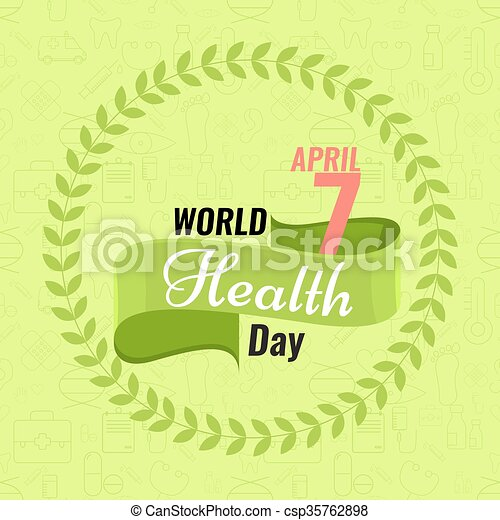Creative World Health Day Greeting Stock Vector Red Ribbon