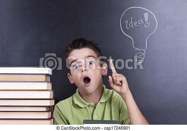 creatividad, niños - csp17246901