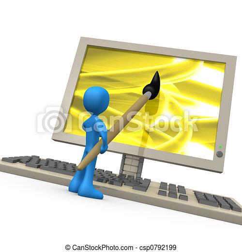 creativiteit, digitale  - csp0792199