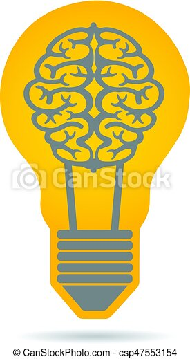 Creativity Brain Idea Logo Illustration - csp47553154