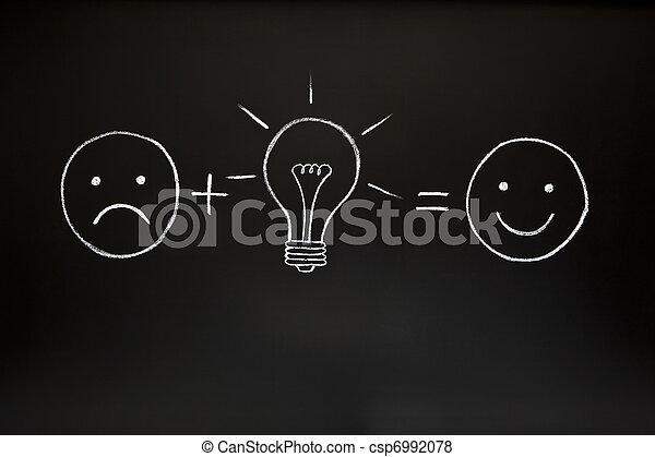 Creativity concept on chalkboard - csp6992078