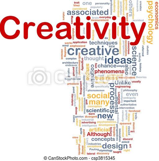 Creativity creative background concept - csp3815345