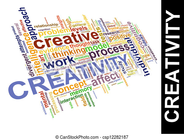 creativity word tags illustration of worldcloud word tags of
