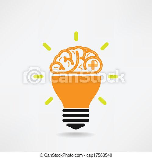 creativo, cervello, simbolo, simbolo, segno, educazione, icona - csp17583540