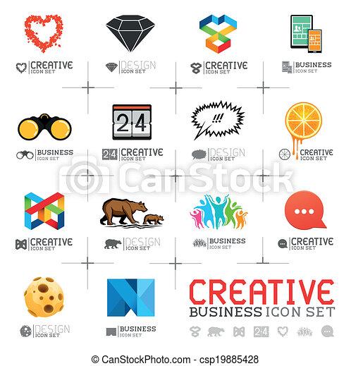 creativo, icone affari - csp19885428