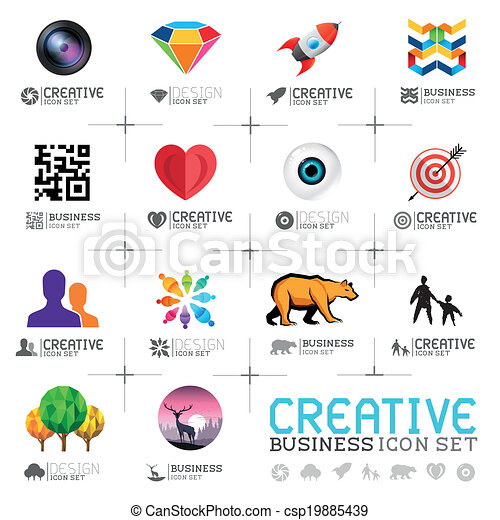 creativo, icone affari - csp19885439