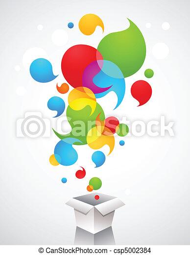creativo, ideas, regalo, navidad - csp5002384