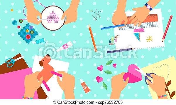 creativo, niños, laboratorio - csp76532705